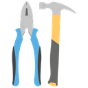 Hammer And Plier Repairing Tool Maintenance Tool Icon