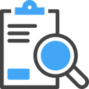 Report Analysis Clipboard Search Icon