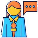 Female Woman Microphone Icon