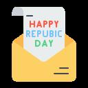 Republic Day Envelope Icon