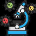 A Microscope Research Virus Microscope Icon