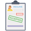 Resume Accepted Job Application Job Confirmation Icon