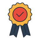 Ribbon Election Approve Icon