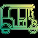 Rickshaw Auto Rickshaw Three Wheeler Icon