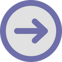 Arrow Right Round Icon