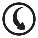 Right Symbol Desing Icon