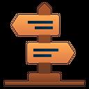 Road Board Guide Board Direction Icon