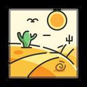 X Road Desert Icon