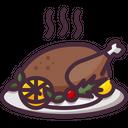 Turkey Roast Chicken Thanksgiving Icon