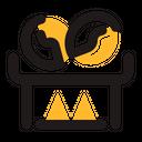 Roasting Fire Coffee Icon