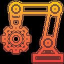 Robotic Arm Robot Technology Icon