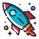 Rocket Spaceship Space Icon