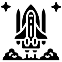 Rocket Launch Nasa Exploration Icon