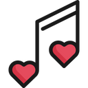 Note Heart Music Icon