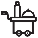 Room Service Food Trolley Hotel Icon