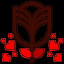 Rose Flower Botanical Icon