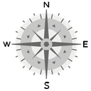 Rose Compass Icon