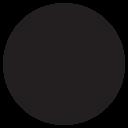 Round Black Circle Icon