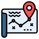 Route Map Road Icon
