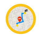 Route Mode Navigation Icon