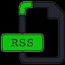 Rss File Internet Icon