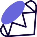 Ruby Technology Logo Social Media Logo Icon