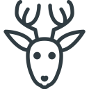 Rudolf Deer Christmas Icon