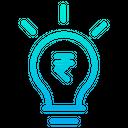Rupees Bulb Idea Icon