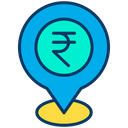 Rupees Location Bank Location Pin Icon