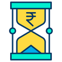 Rupees Time Money Timer Icon