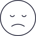 Sad Emoji Outline Icon