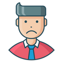 Sad Unhappy Man Icon