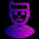 Sad Neutral Man Icon