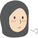 Hijab Girl Sighing Icon