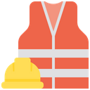 Safety Costume Safety Jacket Hard Hemet Icon
