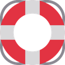 Safety Tube Lifebuoy Life Saver Icon