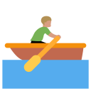 Sailboat Man Riding Icon