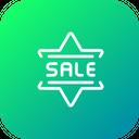 Sale Badge Star Icon