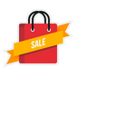 Sale Ribbon Carry Icon