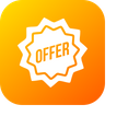 Sale Ribbon Offer Icon
