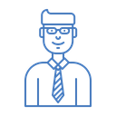 Salesman Business Dealer Icon