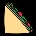 Sandwich Snack Lunch Icon