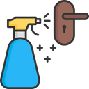 Sanitize Door Handle Icon