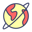 Global Communication Network Icon