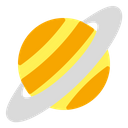 Saturn Planet Space Icon