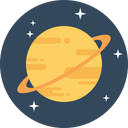 Saturn Solar System Icon