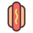 Sausage Hotdog Food Icon