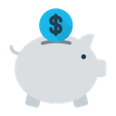 Piggy Bank Cash Money Icon
