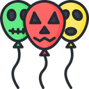 Scary balloons Icon