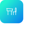 School Education Bench Icon